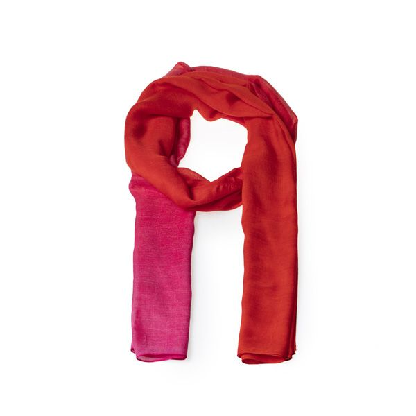 Ombre Scarf, Pink/Red