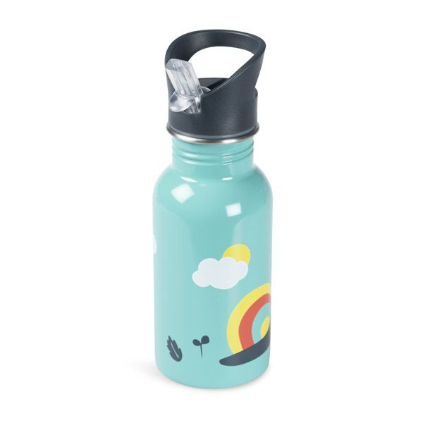 Frugi and National Trust Water Bottle, Pacific Aqua/Snail
