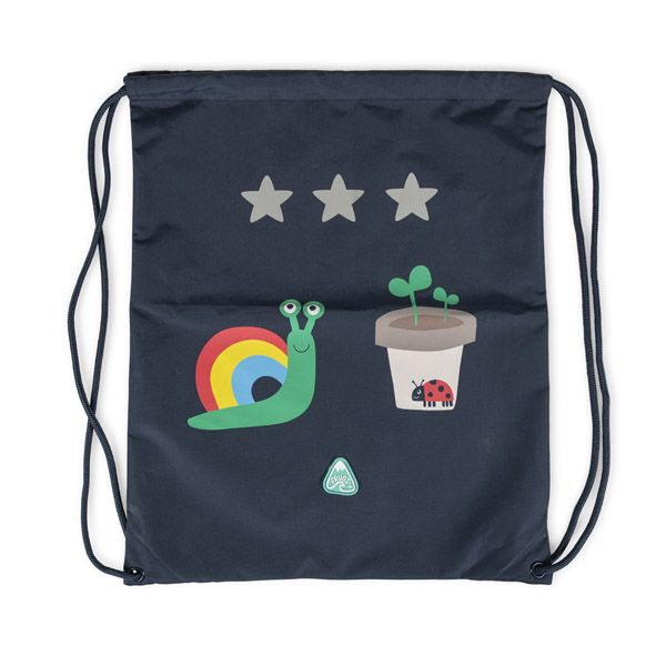 Frugi and National Trust Drawstring Bag, Pacific Aqua/Snail