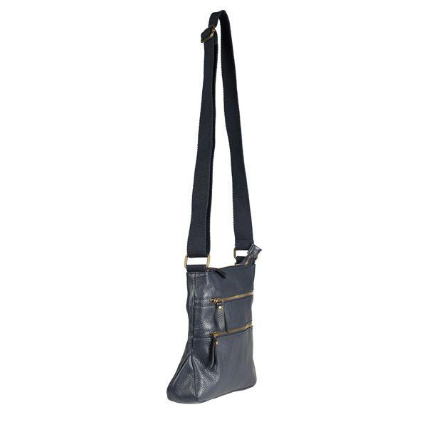 Leather Cross Body Bag, Navy
