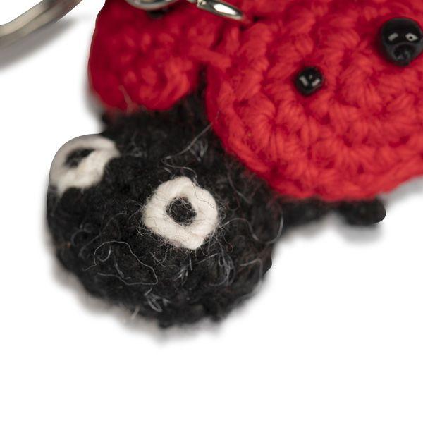 Crochet Keyring, Ladybird