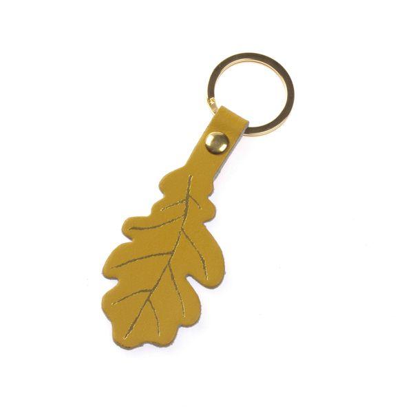 National Trust Celebration Gold Oak Leaf Keyring