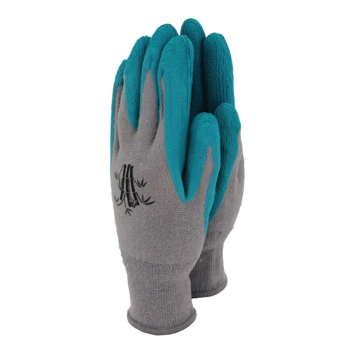 Teal Bamboo Gloves, Medium