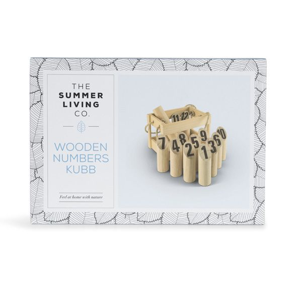 Wooden Number Kubb Game