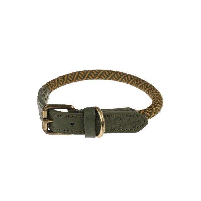 Sophie Allport Rope Dog Collar, Forest Green