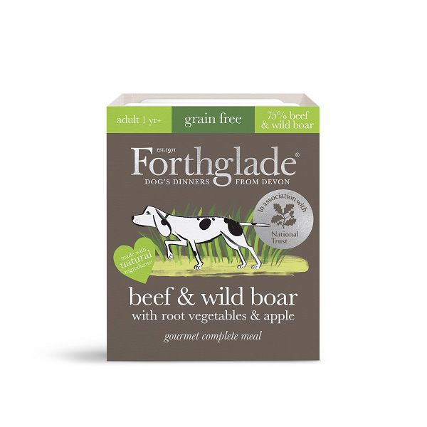 National Trust Forthglade Wet Dog Food, Beef and Wild Boar (7 x 395g)