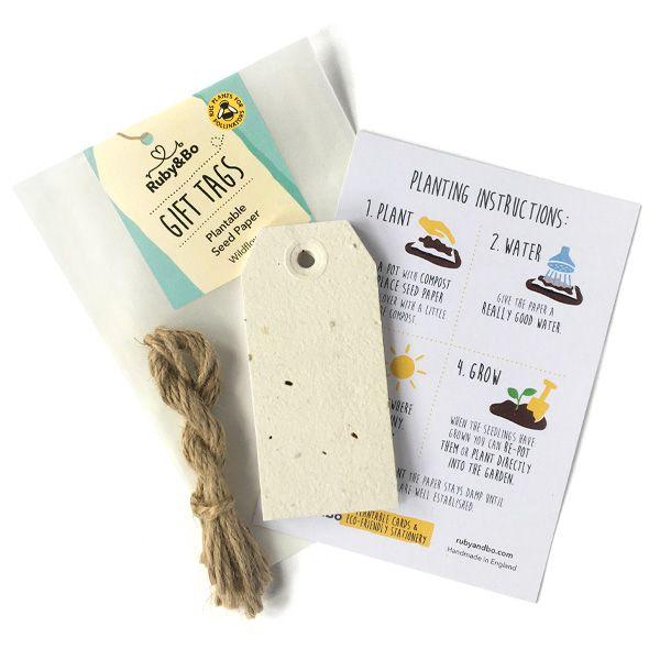 Plantable Seed Gift Tags, Set of 10