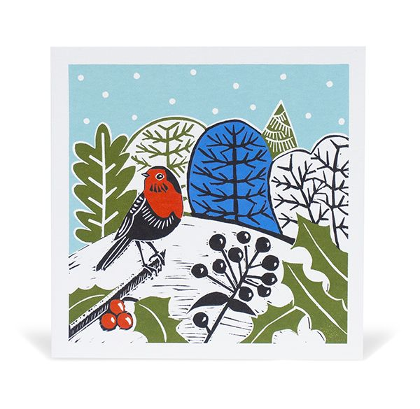 Kate Heiss Robin Christmas Cards, Pack of 10