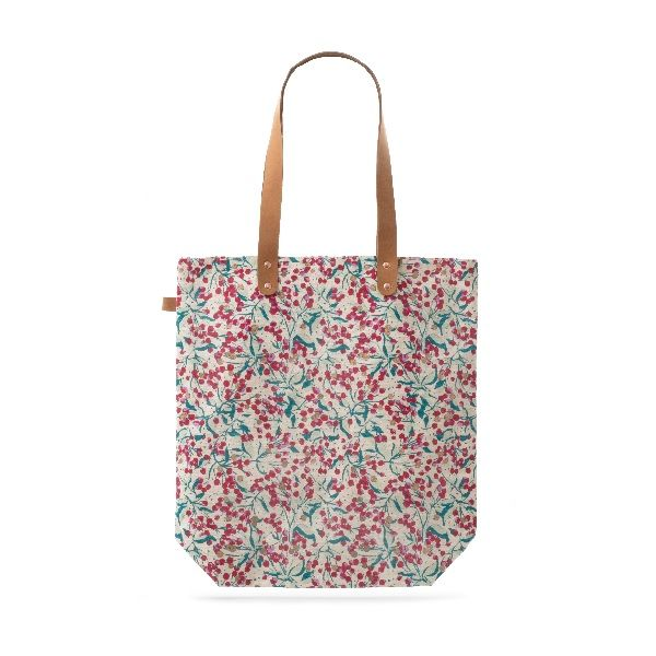 Sheffield Park Winter Berry Cotton Shopper Bag