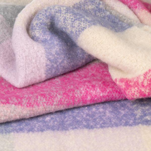 Brushed Stripe Scarf, Pink/Purple