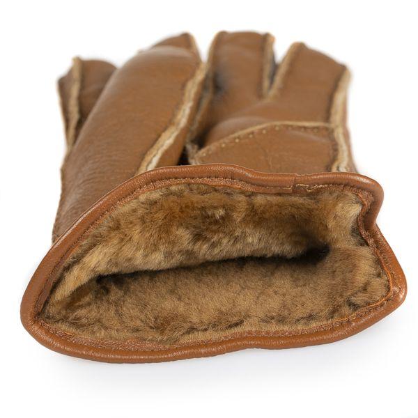 Men's Sheepskin Gloves, Brown