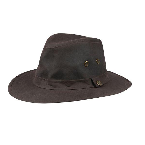 Waxed Adventurer Hat, Dark Brown