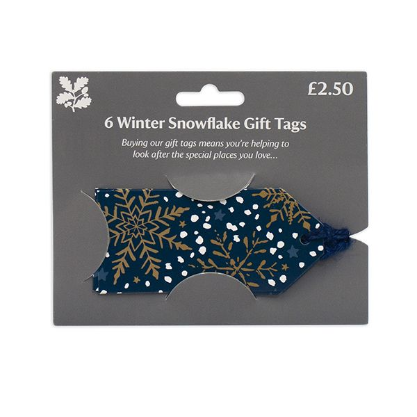 Winter Snowflake Gift Tags, Pack of 6