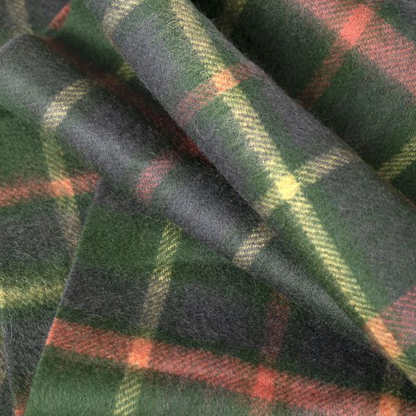 Men's Green Check Scarf