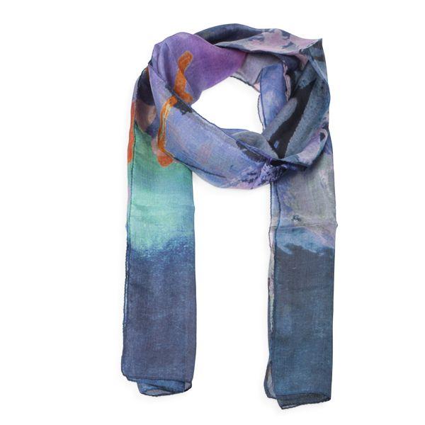 Conwy Riverscape Silk Scarf