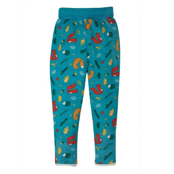 Frugi and National Trust Woodland Wanders Reversible Pull Up Trousers