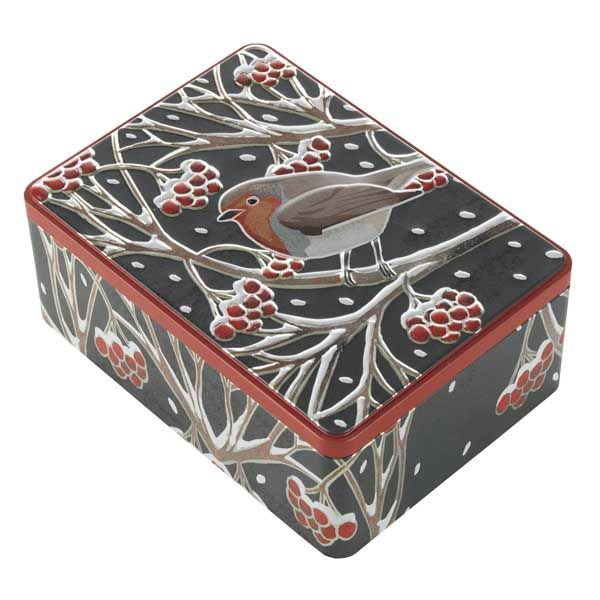 Large Robin Biscuit Tin