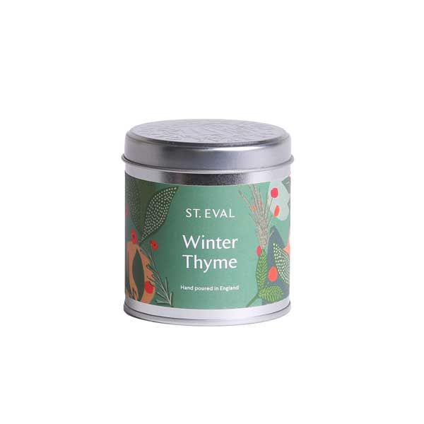 Winter Thyme Scented Candle Tin