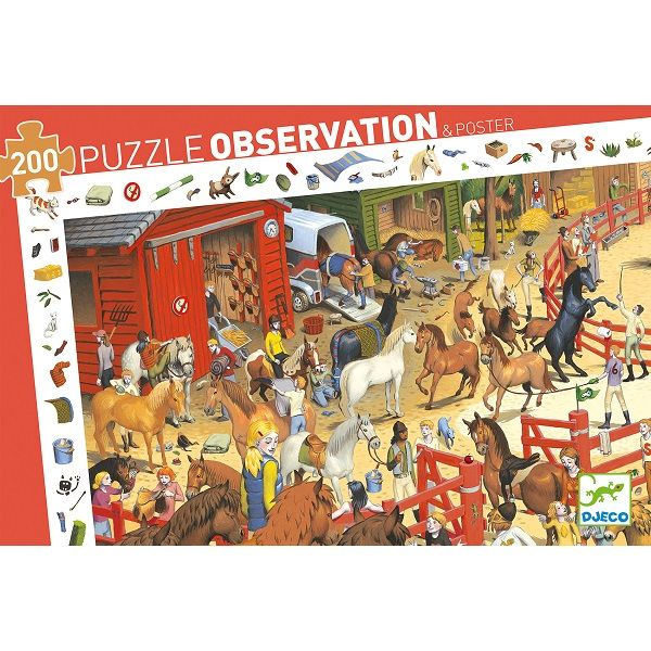 Horse Riding Observation Jigsaw Puzzle, 200 Pieces