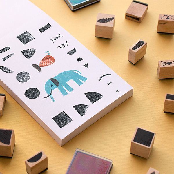 Wooden Stamps, Create Your Animals