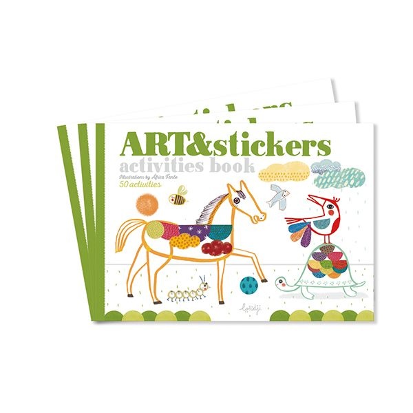 ART and Stickers Activities Book