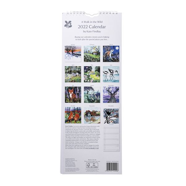 National Trust 2022 Kate Findlay Calendar
