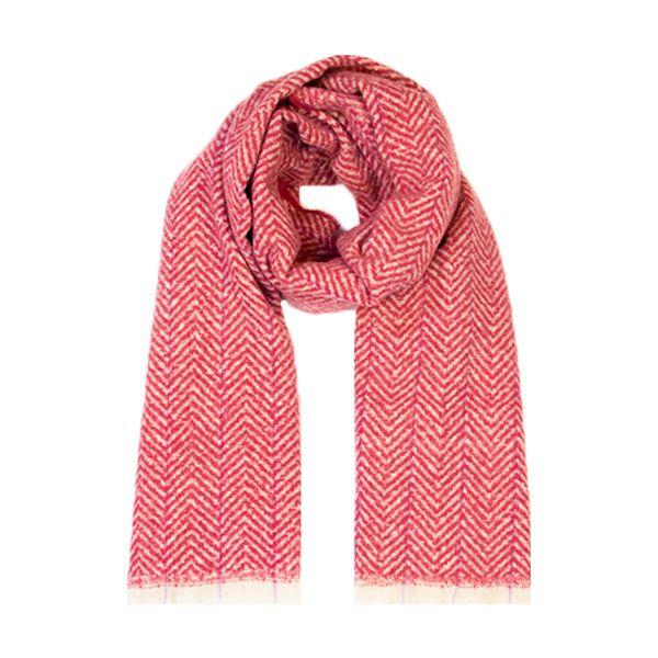 Herringbone Scarf, Pink