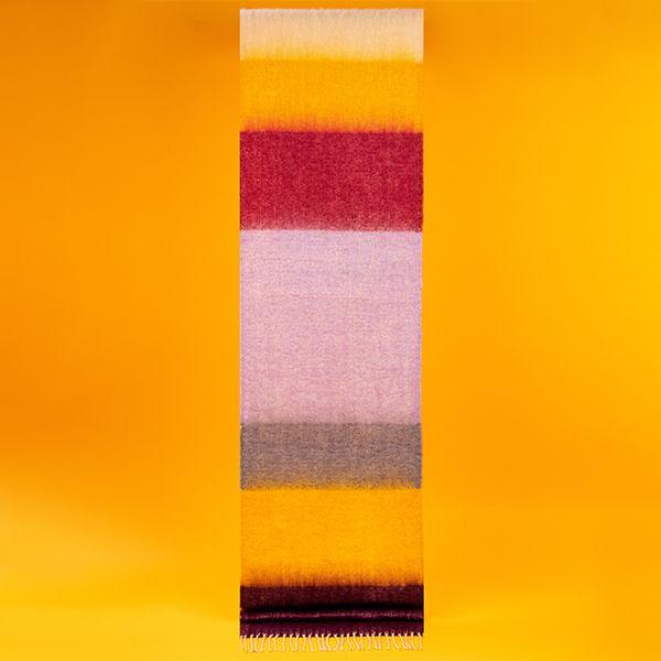 Sunset Colour Block Scarf, Damson/Mustard