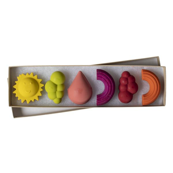 Set of 6 Crayons, Weather