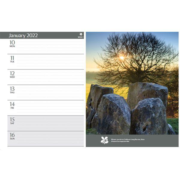 National Trust  2022 Wire-O Bound Engagement Diary