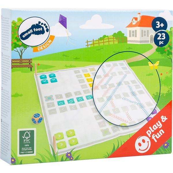 Wooden Ludo and Ladders Game