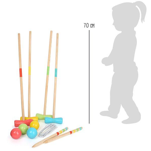 Wooden Outdoor Croquet Set