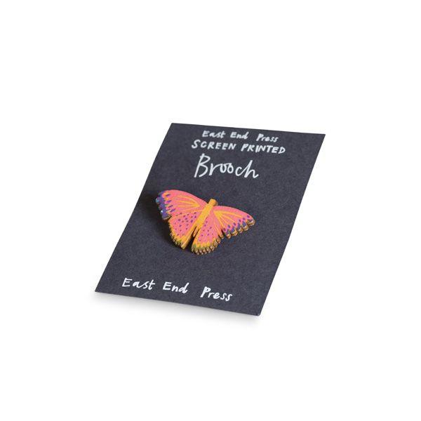 Screen Printed Brooch, Butterfly