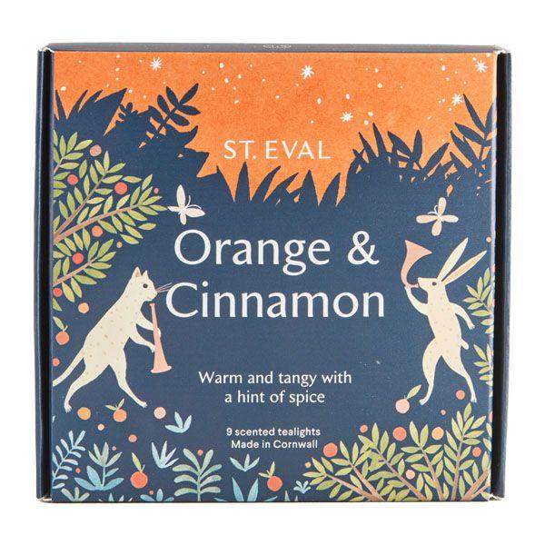 St Eval Orange and Cinnamon Tealights