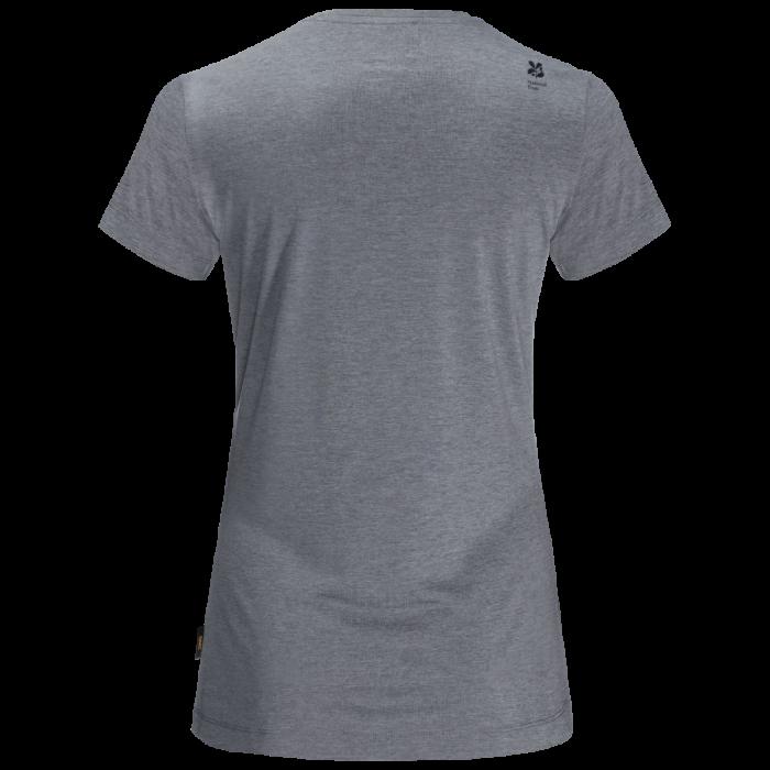 National Trust Jack Wolfskin Women's Belton T-Shirt, Pebble Grey