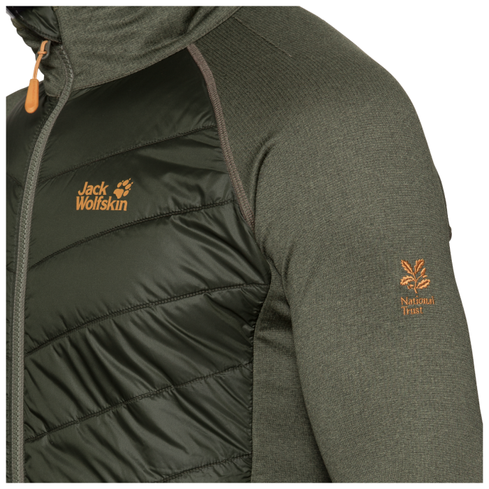 National Trust Jack Wolfskin Men's Windermere Hybrid Jacket, Grape Leaf