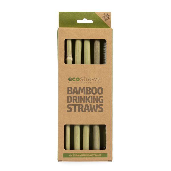 Natural Bamboo Straight Drinking Straws 215mm