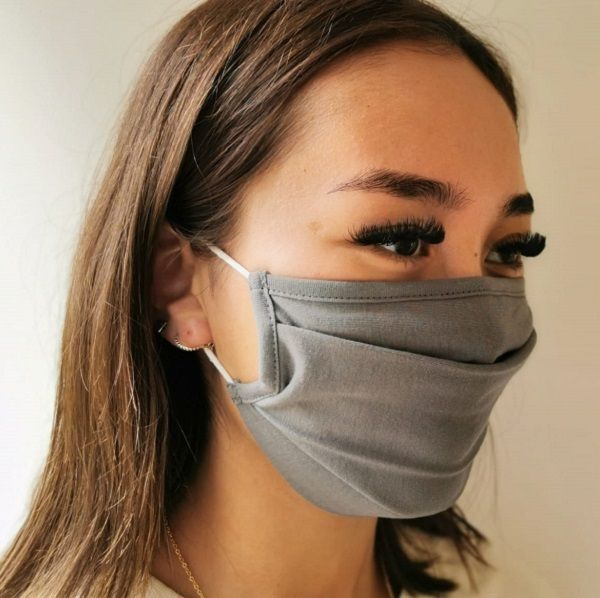 Adult Cotton Face Covering, Grey