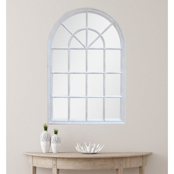 Marseille Arched Outdoor Wall Mirror, Large