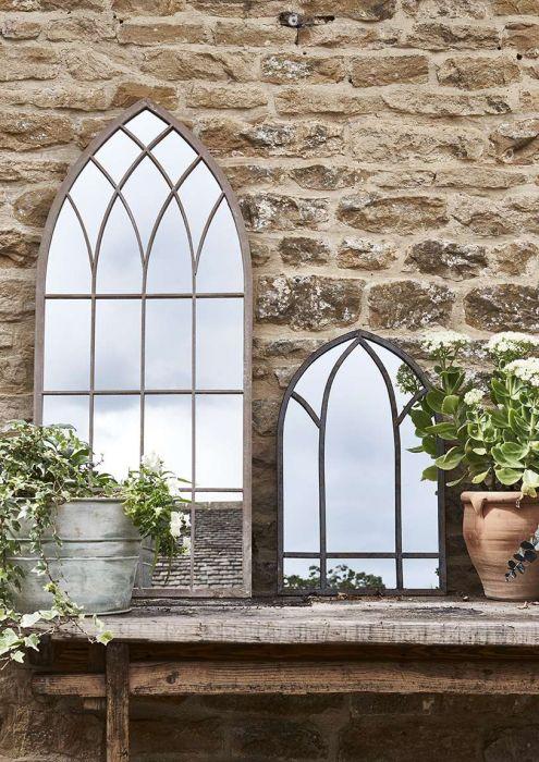 Gothic Stone Garden Mirror