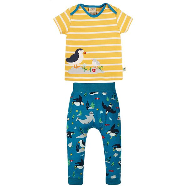 Frugi and National Trust Olly Outfit, Paddling Puffins