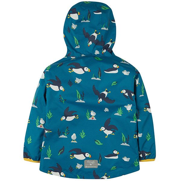 Frugi and National Trust Recycled Packaway  Jacket, Paddling Puffins