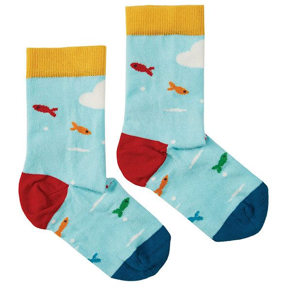 Frugi and National Trust Perfect Pair Socks, Paddling Puffins