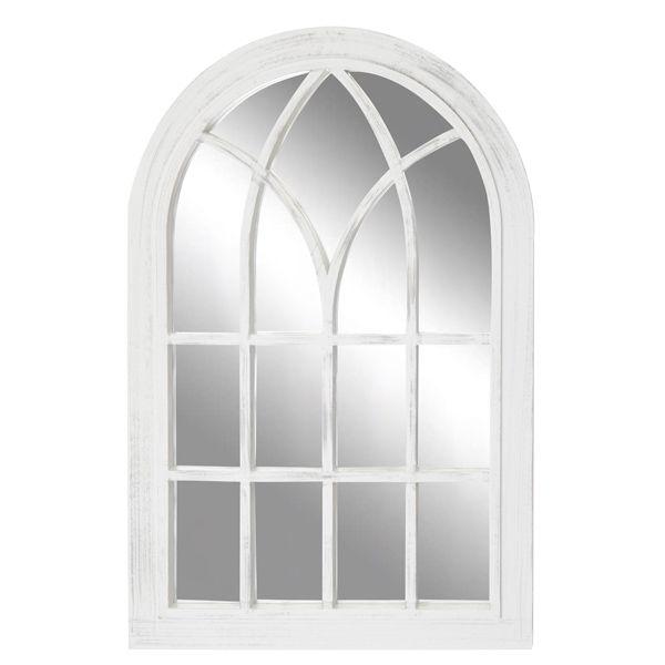 Toscana Large White Outdoor Mirror