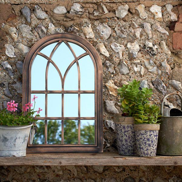 Toscana Small Copper Coloured Outdoor Mirror
