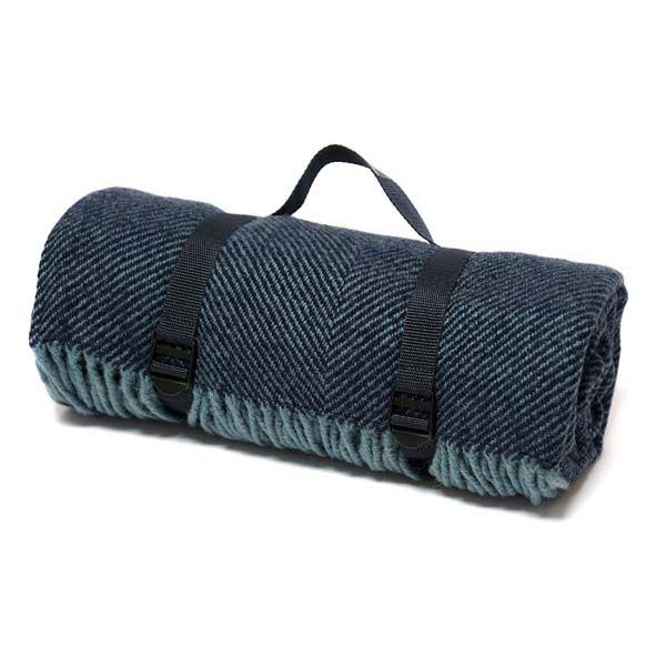 Waterproof Backed Herringbone Rug, Blue