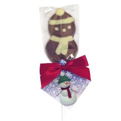 Milk and White Chocolate Snowman Lolly