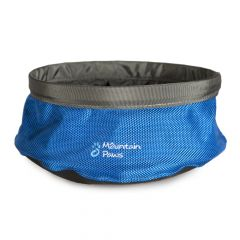 Collapsible Drinking Dog Bowl, Blue