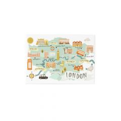 A National Trust London magnet with a map and images of all the properties and towns of London