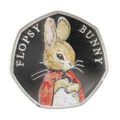 Beatrix Potter Flopsy Bunny 2018 Silver Proof 50p Coin